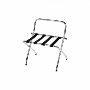chrome luggage rack with high back - Luggage Racks For Bedrooms