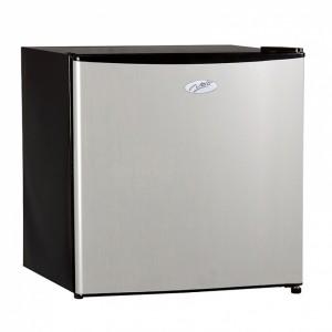 Nero Silver Painted Fridge Freezer 46L