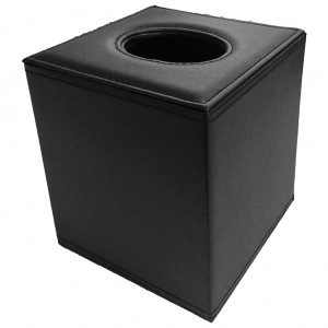 16520-Leather-Tissue-Cube-Dispenser-Black-Black