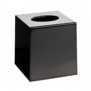 Matt Black Cube Tissue Box Holder