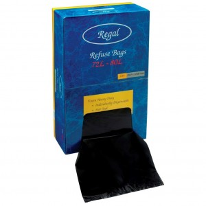 82L Regal Rubbish Bag in Dispenser Box 810x1000mm