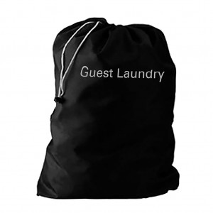 Guest Non-woven Black Laundry Bag