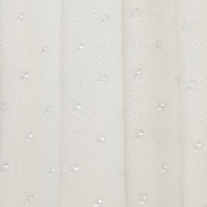Shower Curtain 180x180 Weighted White