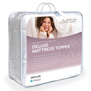 Drylife Deluxe Mattress Topper Luxury White Double