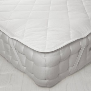 Mattress Protector PolyCotton Quilted Flat 185 x 203 Super King