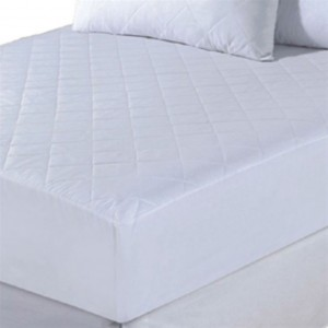 Mattress Protector PolyCotton Quilted Fitted 185 x 203 x 35cm Super King