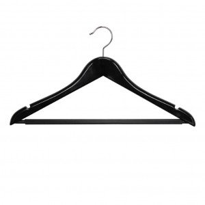 Black Male Standard Coat Hanger with Rail