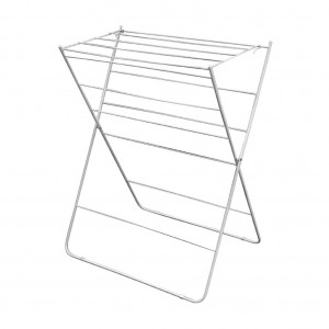 Folding Clothes Airer 12 Rail White