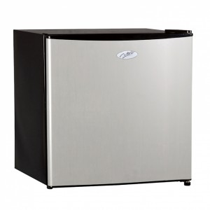 Nero Stainless Steel Fridge Freezer 46L