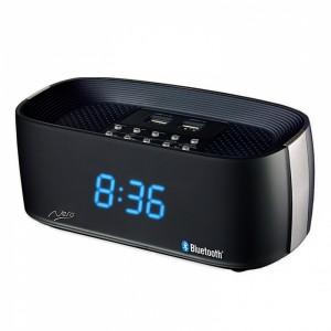 Nero Bluetooth Clock Radio Titanium