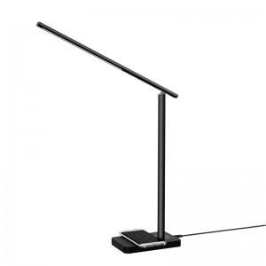 Black Luxfinity Qi Desk Lamp