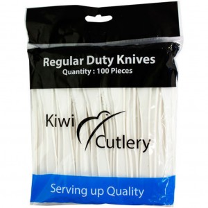 Plastic Disposable Knife White 100
