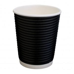 Paper Hot Cup Triple Wall 245ml 8oz Twist Black 500