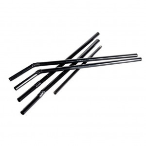 Flexi Straw 6x203mm Black 250