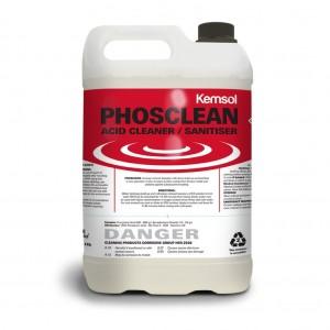 Kemsol Phosclean Acid Cleaner Sanitiser 5L