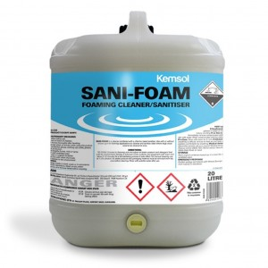 Kemsol Sani Foam Foaming Cleaner Sanitiser 20L