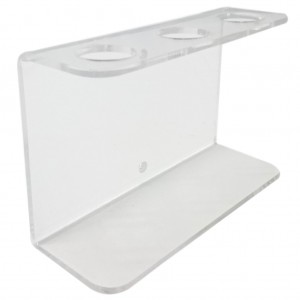 Clear Acrylic Triple Wall Mount Bracket