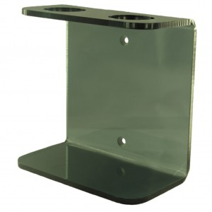 Coloured Acrylic Double Wall Mounted Dispenser Bracket