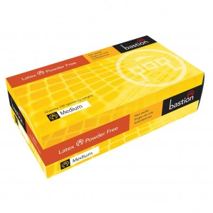 Bastion Latex PF Medium Disposable Gloves 100