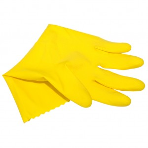 Yellow Rubber Gloves Large 1pr