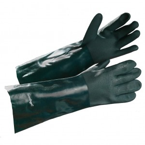 Double Dipped Green PVC Glove XL 1pr