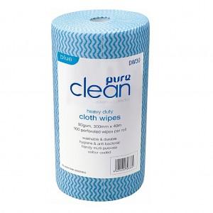 Roll Wipes 100pcs Blue