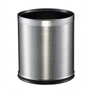 10L SS Round Brushed Dual Layer Bin 255dx270mmh