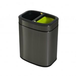 10L Rectangular Titanium Recycling Bin