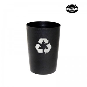 Compass 8L Round Recycling Bin Black