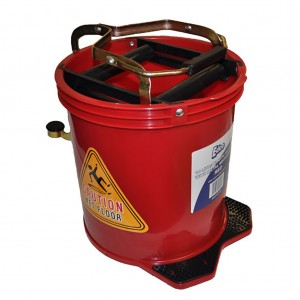 16l Wringer Mop Bucket Red