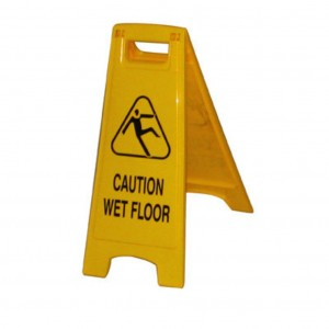 Yellow Safety Sign Caution Wet Floor