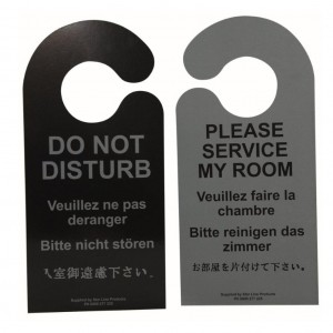 DND and 'Please Service My Room Door signs multi language 100