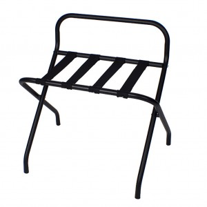 34713_Black Luggage Rack With High Back