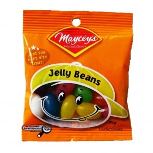 Mayceys Jelly Beans 35gm Smiley Bag x24
