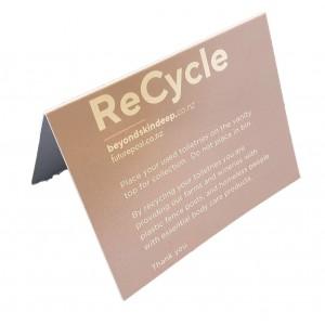BSD CARD Guest Tent Sign - Toiletries
