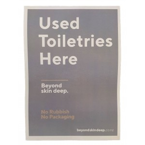 BSD Sign for Storage Areas - Toiletries