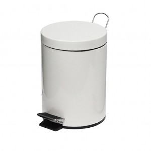 29606-3L-Pedal-Bin-Powder-Coated-White