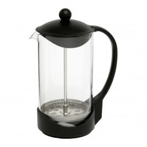 Impress Blk Plastic Coffee Plunger 8 Cup