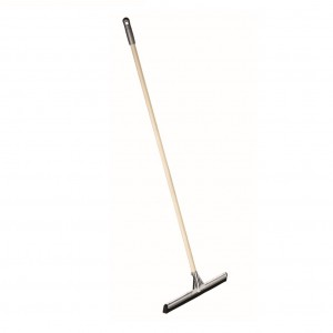 550mm Ss Floor Squeegee Double Blade With 1.35mx22mm Wooden Handle