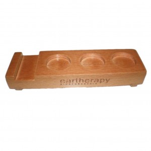 Eartherapy 3 Hole Wooden Display Tray 1