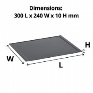 Black Melamine Amenity Tray 300L x 240W