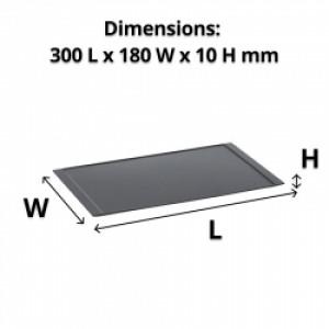 Black Melamine Amenity Tray 300L x 180mm