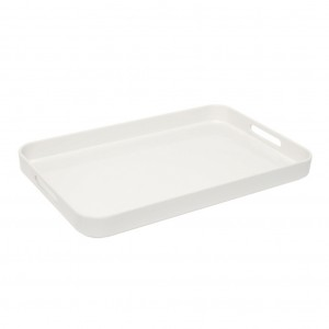 Large White Amenity Tray with handles