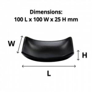 Melamine Soap Dish Curved - Black