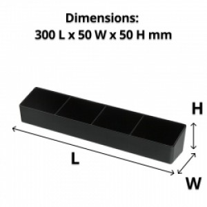 4 Comp Melamine Sachet Holder - Black