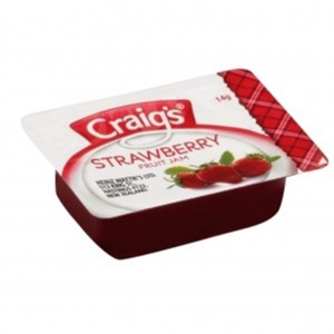 Craigs Strawberry Jam PCU Tray 75