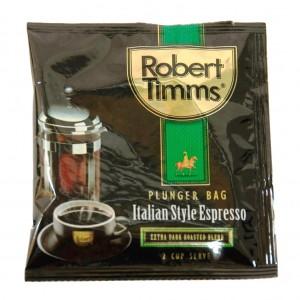 Robert Timms Italian Plunger Coffee 2 Cup 15gm Sachet