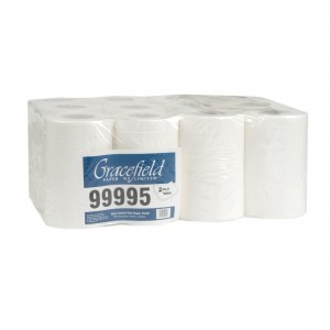 Mini Centrefeed Paper Towels 75m 2ply Roll Bale