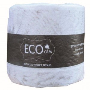 EcoGem Toilet Tissue Wrapped Recycled 400sh 2 Ply