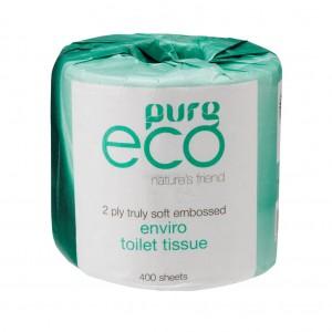 PureEco Wrapped Toilet Tissue 2ply 400sh 48